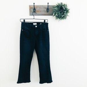 Frame Black Le Crop MIni Boot Fray Jeans 29